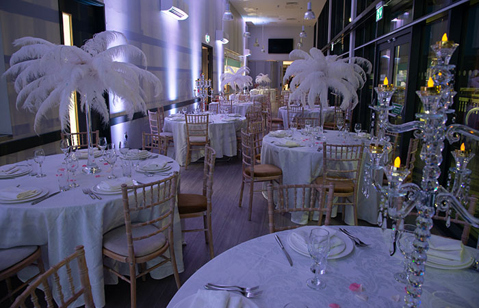 Evening party table at Arbour Park