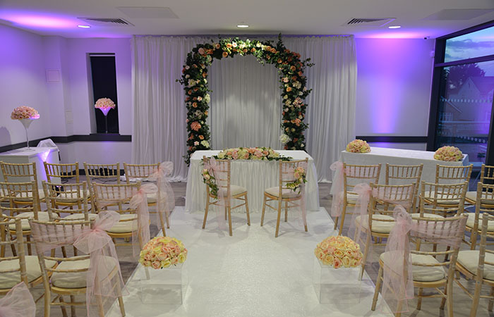 Wedding evening setting first floor at Arbour Park