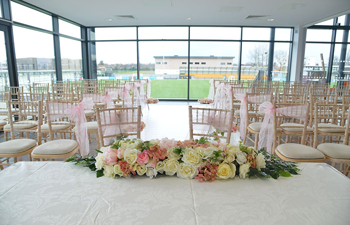 Wedding setting 2 on the first floor at Arbour Park
