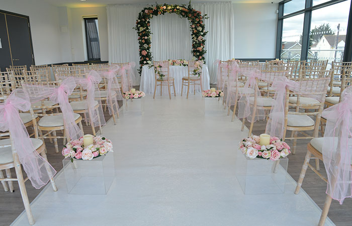 Wedding setting first floor at Arbour Park