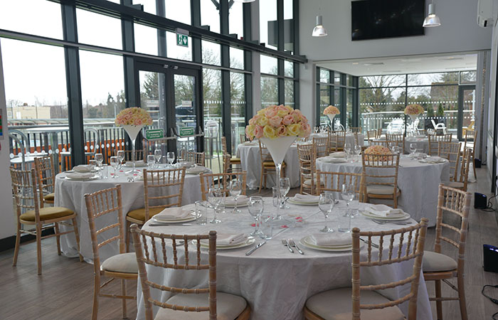 Wedding table layout first floor at Arbour Park